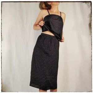 Vintage 1980s The Limited Skirt and Crop Top Set